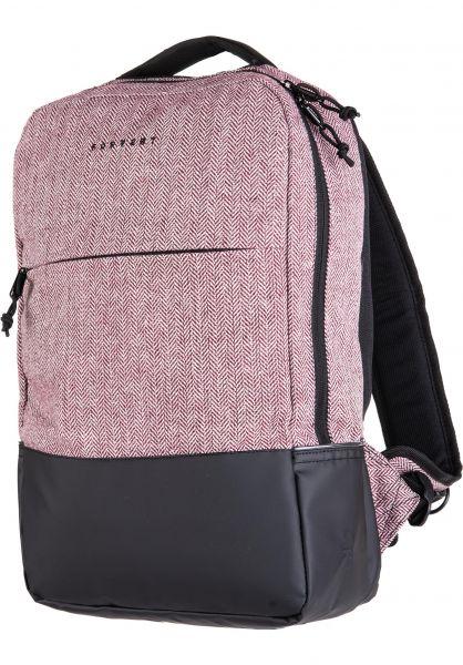 Forvert Rucksäcke New Lance flannel-burgundy vorderansicht 0880820