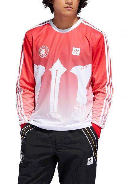 adidas-skateboarding Longsleeves x Evisen Jersey red-white vorderansicht 0383149