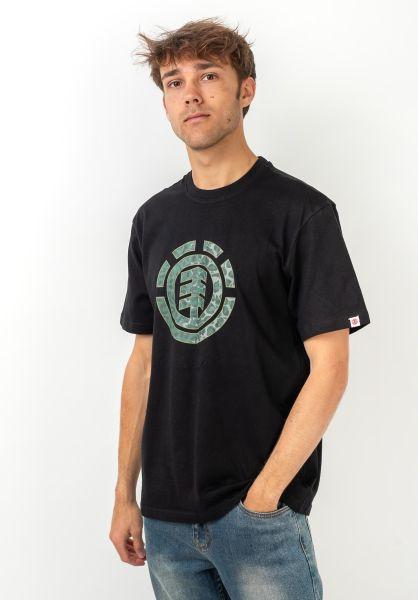 Element T-Shirts Leopard Icon Fill flintblack vorderansicht 0321667