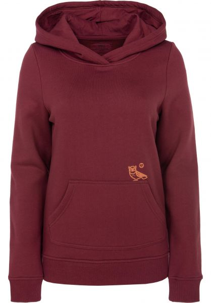 TITUS Hoodies Night Owl burgundy Vorderansicht