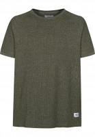 Reell-T-Shirts-Raglan-olivemelange-Vorderansicht