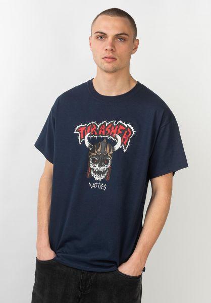 Thrasher T-Shirts Lotties navy vorderansicht 0320809