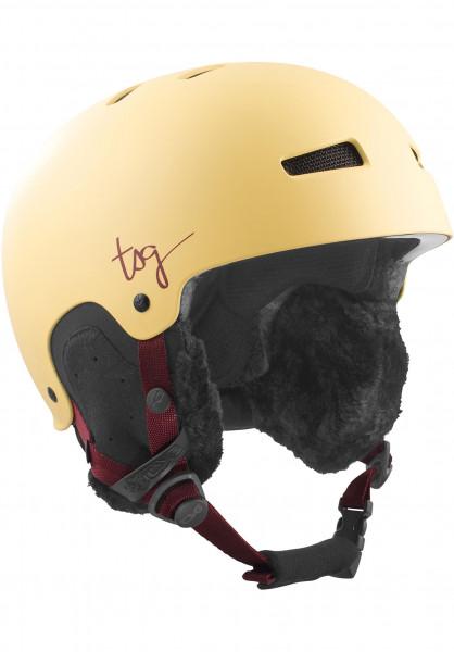 TSG Snowboardhelme Lotus Solid Color satin cream Vorderansicht