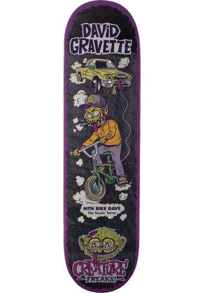 Creature Skateboard Decks Gravette Freaks black-purple vorderansicht 0265563