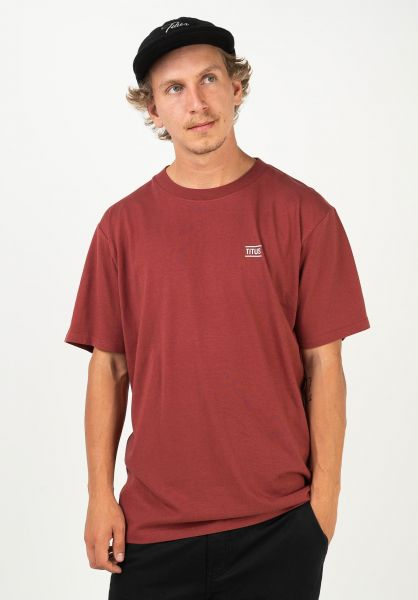 TITUS T-Shirts Chest Emblem red-ochre vorderansicht 0398357