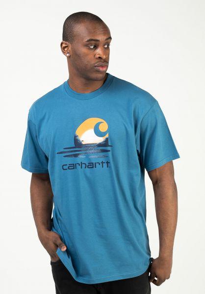 Carhartt WIP T-Shirts Lagoon shore vorderansicht 0323505