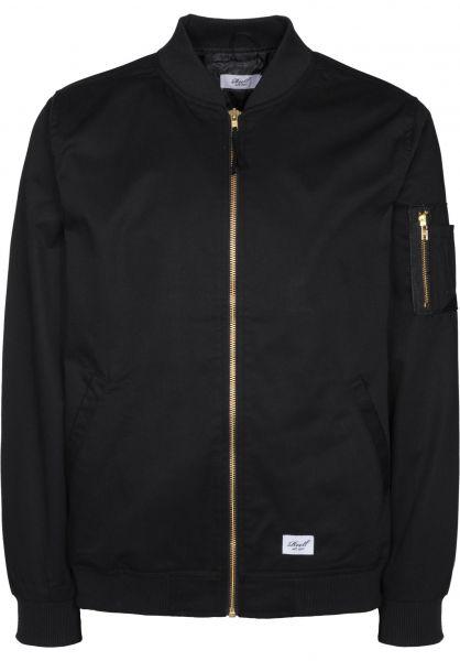 Reell Übergangsjacken Flight Jacket black Vorderansicht