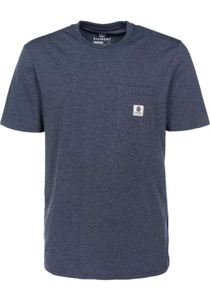 Element T-Shirts Basic Pocket Label indigoheather Vorderansicht