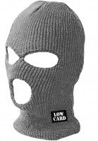 Lowcard Mützen Negotiator Face Mask charcoal Vorderansicht