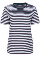 Cleptomanicx T-Shirts Tricolori bottlegreen Vorderansicht
