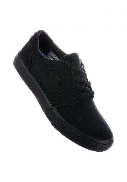 Nike SB Alle Schuhe Portmore II Wmn black-black Vorderansicht