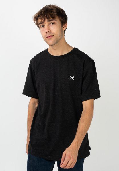 iriedaily T-Shirts Retain blackmelange vorderansicht 0322367