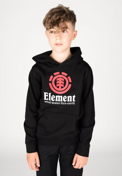 Element Hoodies Vertical Kids flintblack vorderansicht 0442900