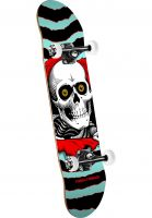 Powell-Peralta Skateboard komplett Ripper Mini one off-turquoise-red Vorderansicht