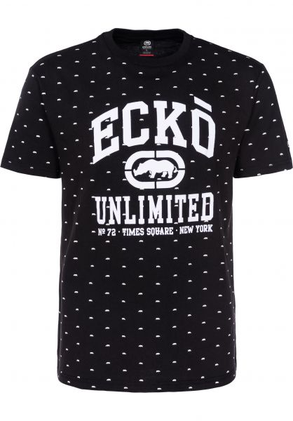 Ecko T-Shirts Everywhere Are Rhinos black Vorderansicht