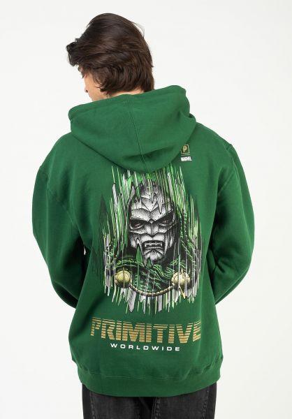 Primitive Skateboards Hoodies x Marvel Doom darkgreen vorderansicht 0446430