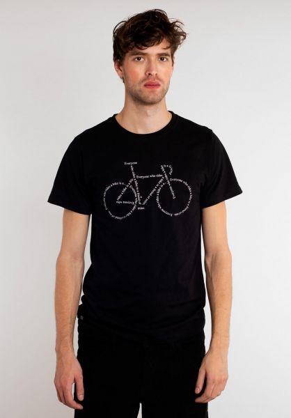 Dedicated T-Shirts Text Bike black vorderansicht 0321134