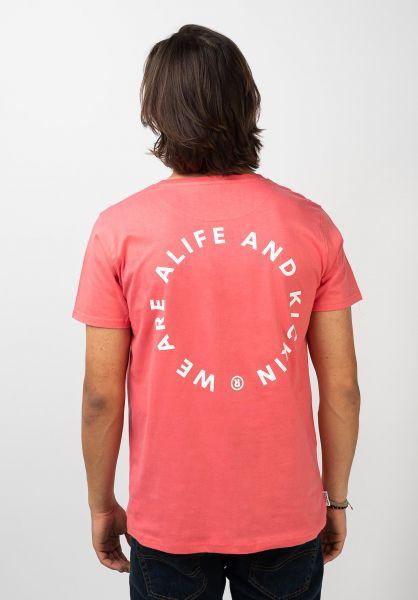 alife and kickin T-Shirts Logo Pocket coral 120 vorderansicht 0322162