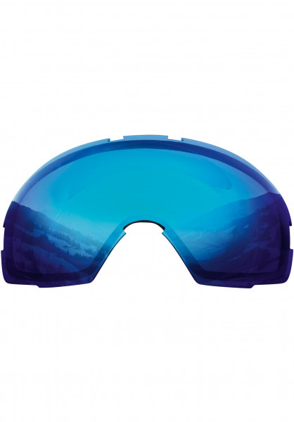 TSG Snowboard-Brille Replacement Lens Goggle One blue-chrome Vorderansicht
