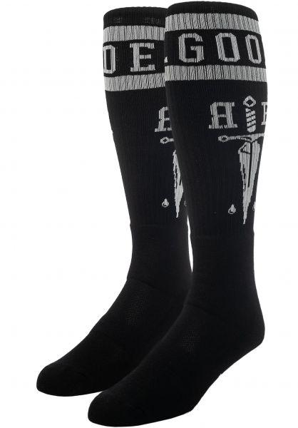 Rebel Rockers Socken Tube Daggers black vorderansicht 0632195
