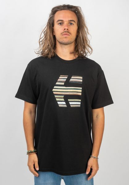 etnies T-Shirts Deck Icon black vorderansicht 0320611
