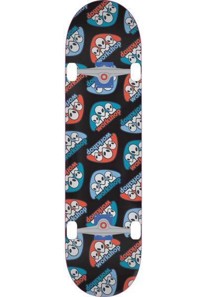 Alien-Workshop Skateboard komplett Triad black vorderansicht 0162385
