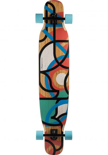 Loaded Longboards komplett Bhangra V2 Carving Boardwalking Flex 1 multicolored vorderansicht 0194288