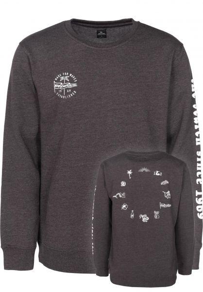 Rip Curl Sweatshirts und Pullover Iconic Crew Fleece molemarle Vorderansicht