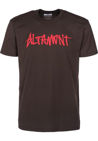 Altamont T-Shirts One Liner darkchocolate Vorderansicht