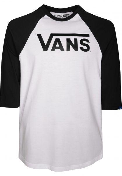 Vans Longsleeves Classic Raglan white-black vorderansicht 0381978