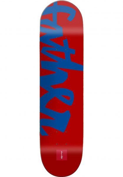 Chocolate Skateboard Decks Fernandez Nickname Father red-blue Vorderansicht