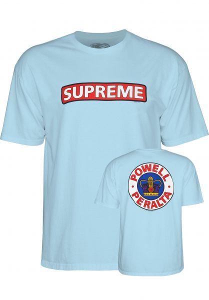 cf3e31b63a92 Powell-Peralta T-Shirts Supreme lightblue Vorderansicht