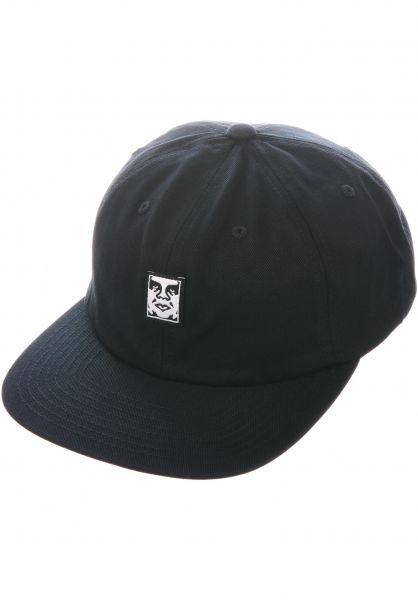 OBEY Caps Icon Face black vorderansicht 0566780