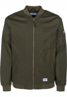 Reell-UEbergangsjacken-Flight-Jacket-olive-Vorderansicht