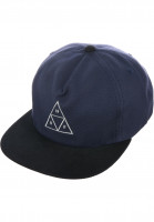 HUF Caps Triple Triangle Snapback navy-black Vorderansicht
