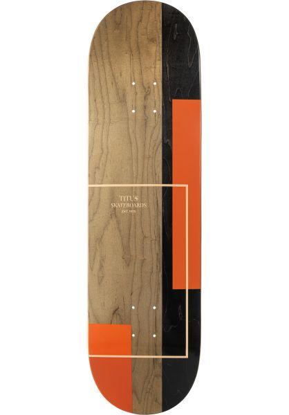 TITUS Skateboard Decks Split apricot-orange vorderansicht 0261388