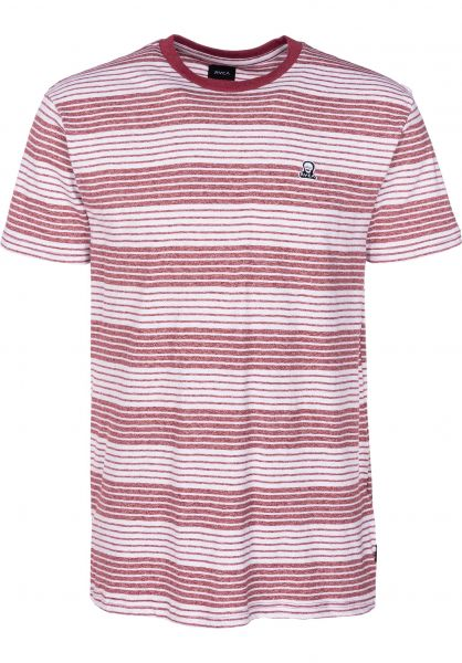 RVCA T-Shirts Longsight bordeaux vorderansicht 0398557