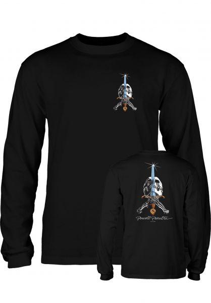 Powell-Peralta Longsleeves Skull & Sword black Vorderansicht