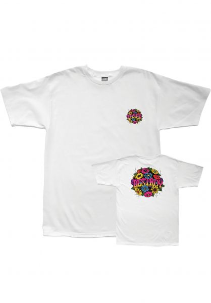Loser-Machine T-Shirts Bouquet white Vorderansicht