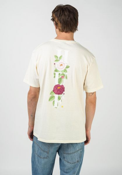 HUF T-Shirts Central Park Pocket cream vorderansicht 0322596
