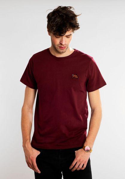 Dedicated T-Shirts Stitch Bike burgundy vorderansicht 0321135