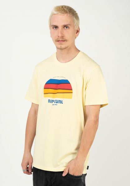 Rip Curl T-Shirts Surf Revival Hey Muma paleyellow vorderansicht 0323559