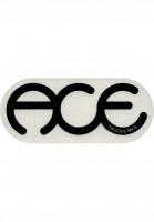 Ace-Verschiedenes-Rings-Logo-Sticker-6-clear-black-Vorderansicht