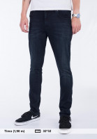 Reell Jeans Radar blue-blackwashed Vorderansicht