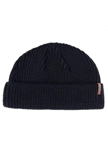 Djinns Mützen Super Short Beanie R/L Knit black vorderansicht 0572623