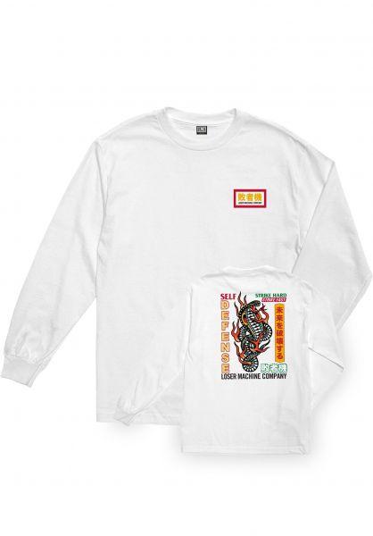Loser-Machine Longsleeves Strke Hard white vorderansicht 0423062