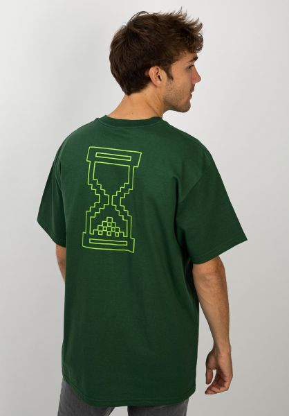 Sour Skateboards T-Shirts Sourglass bottlegreen vorderansicht 0398010