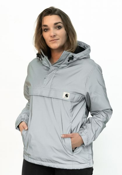 Carhartt WIP Winterjacken W´ Nimbus Reflective Pullover greyreflective vorderansicht 0250203