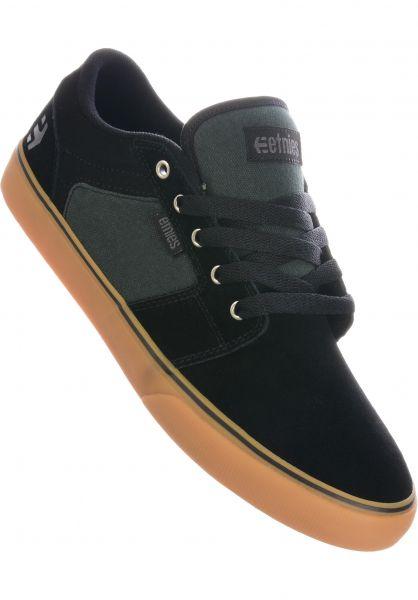 etnies Alle Schuhe Barge LS black-green-gum vorderansicht 0602679