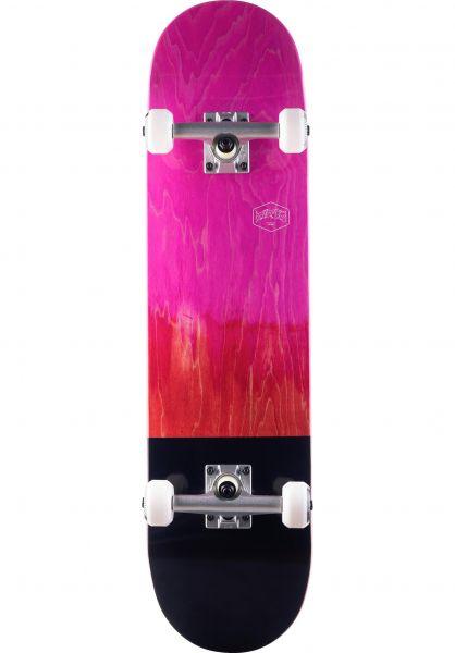 TITUS Skateboard komplett Dip Colour Fade Premium pink-red vorderansicht 0162132